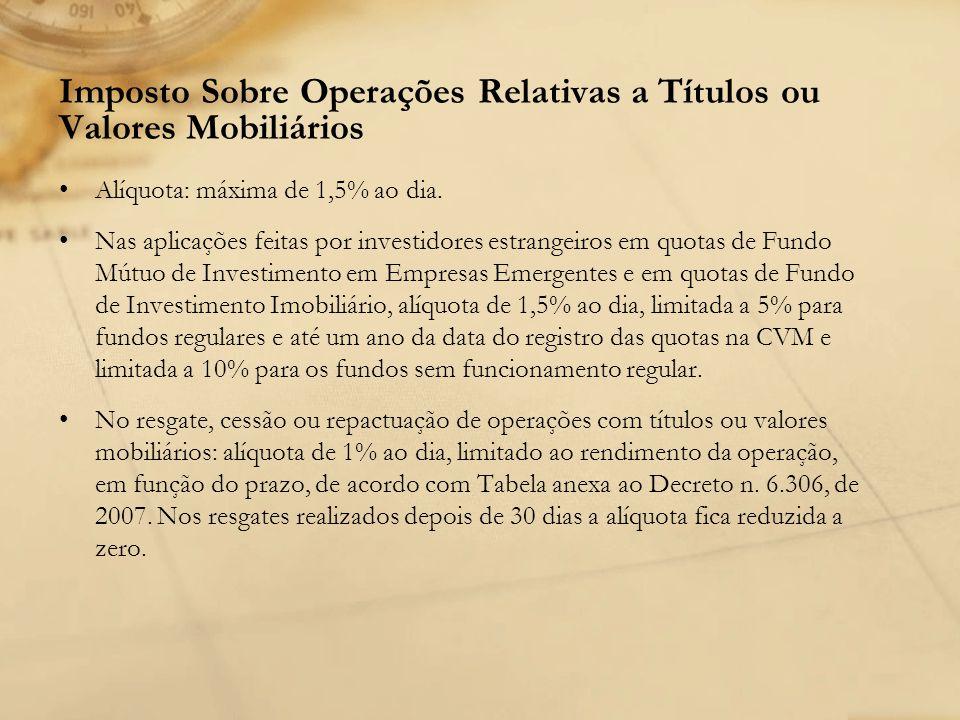 Imposto Sobre Operações Relativas a Títulos ou Valores Mobiliários