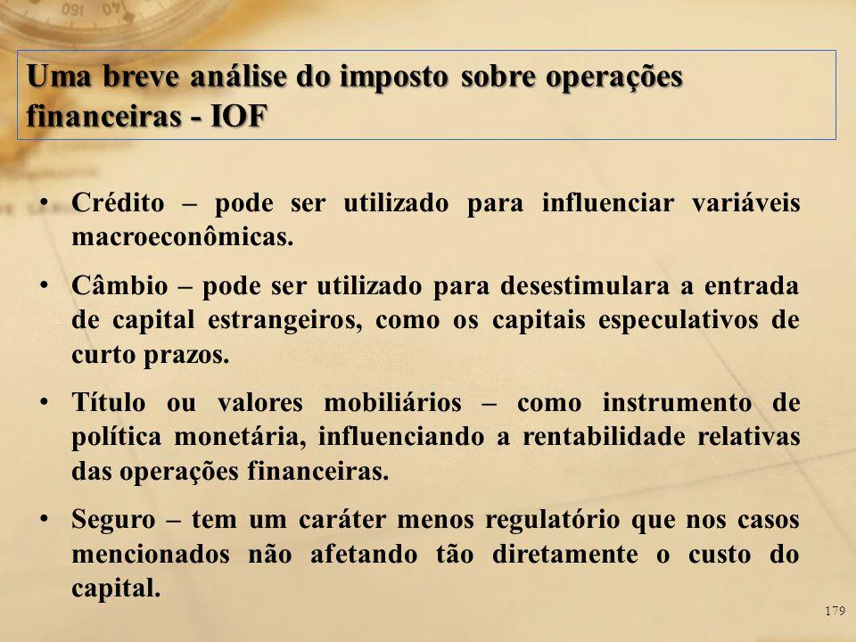 Uma breve análise do imposto sobre operações financeiras - IOF