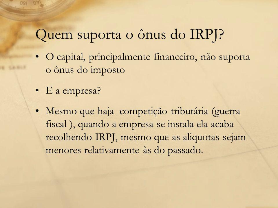 Quem suporta o ônus do IRPJ