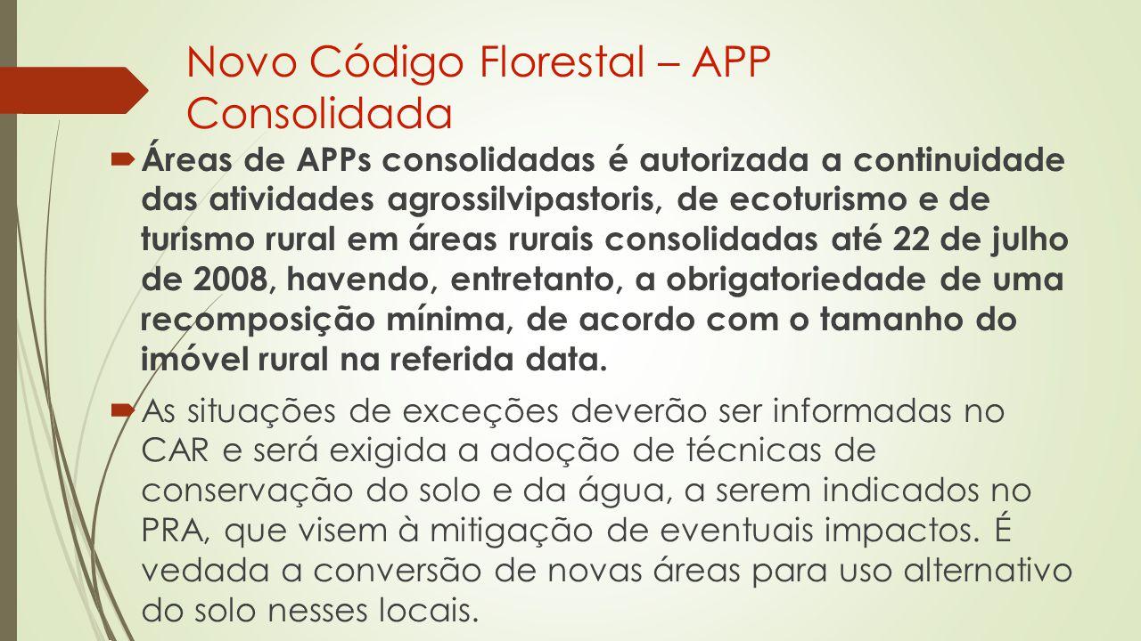 Novo Código Florestal – APP Consolidada
