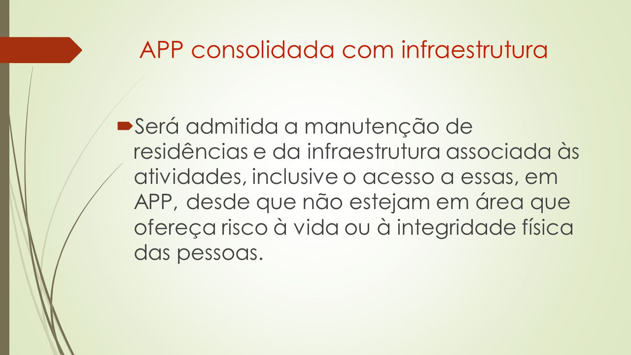 APP consolidada com infraestrutura