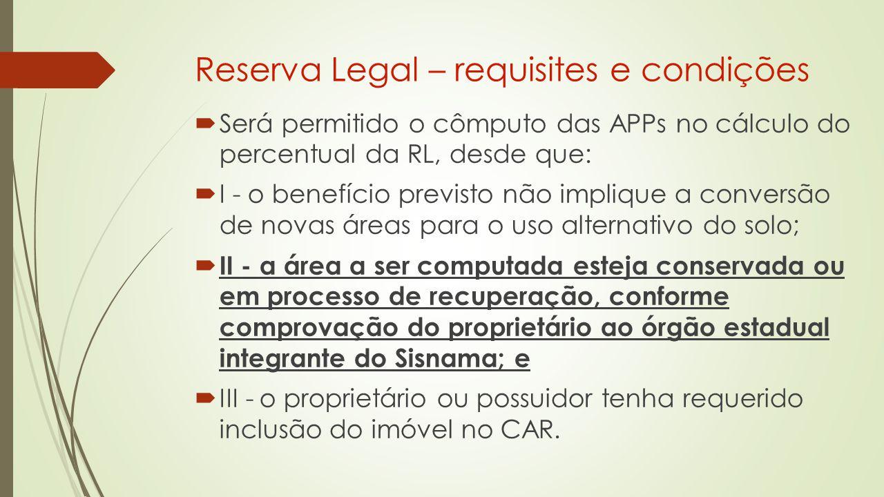 Reserva Legal – requisites e condições