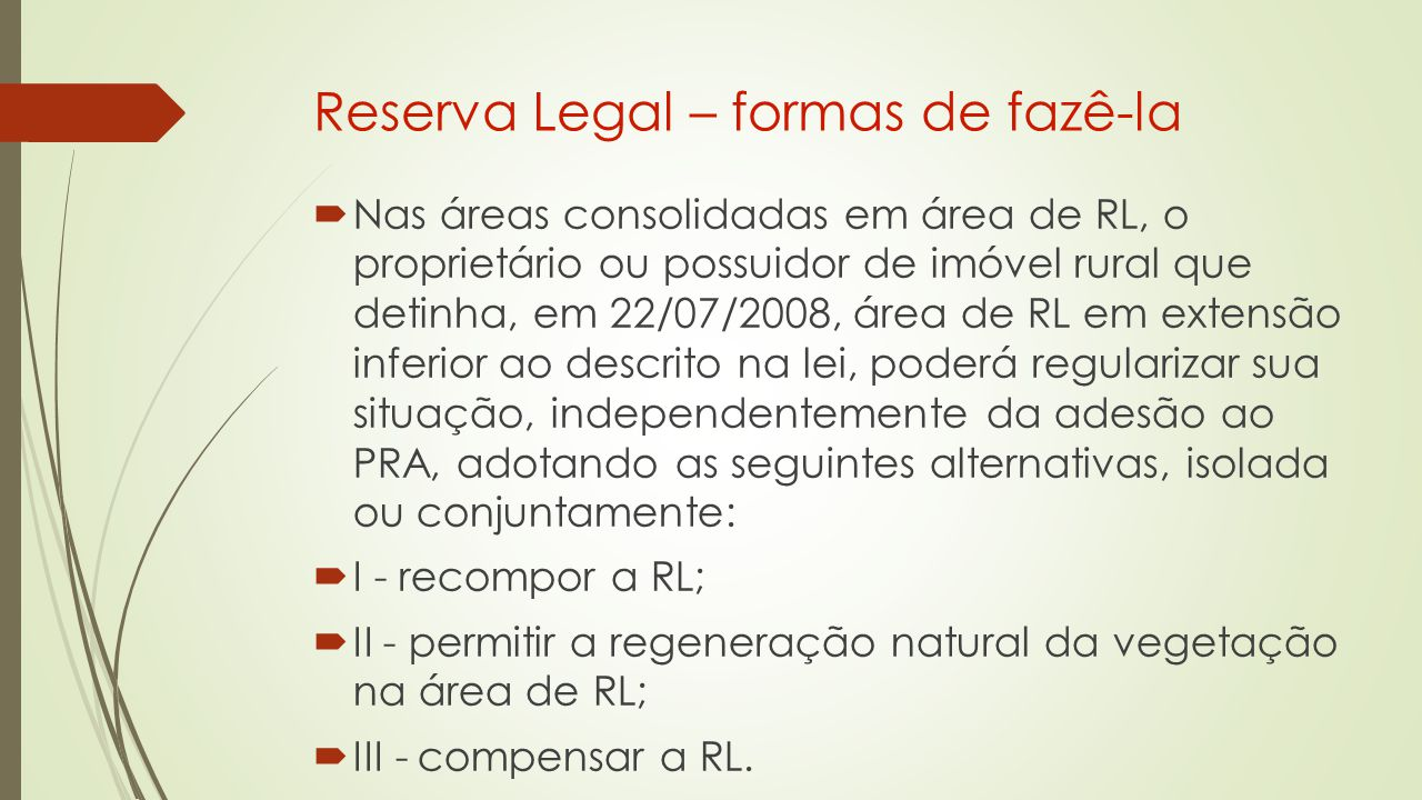Reserva Legal – formas de fazê-la