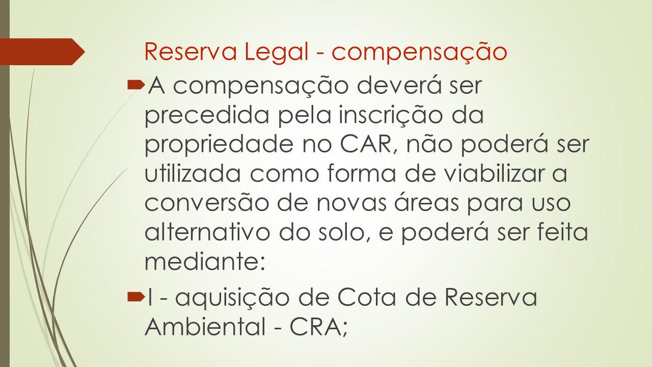 Reserva Legal - compensação