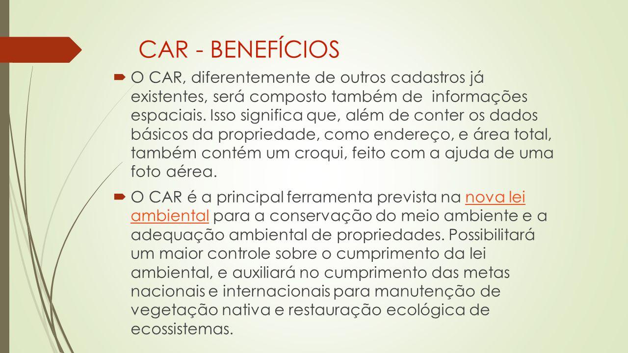 CAR - BENEFÍCIOS