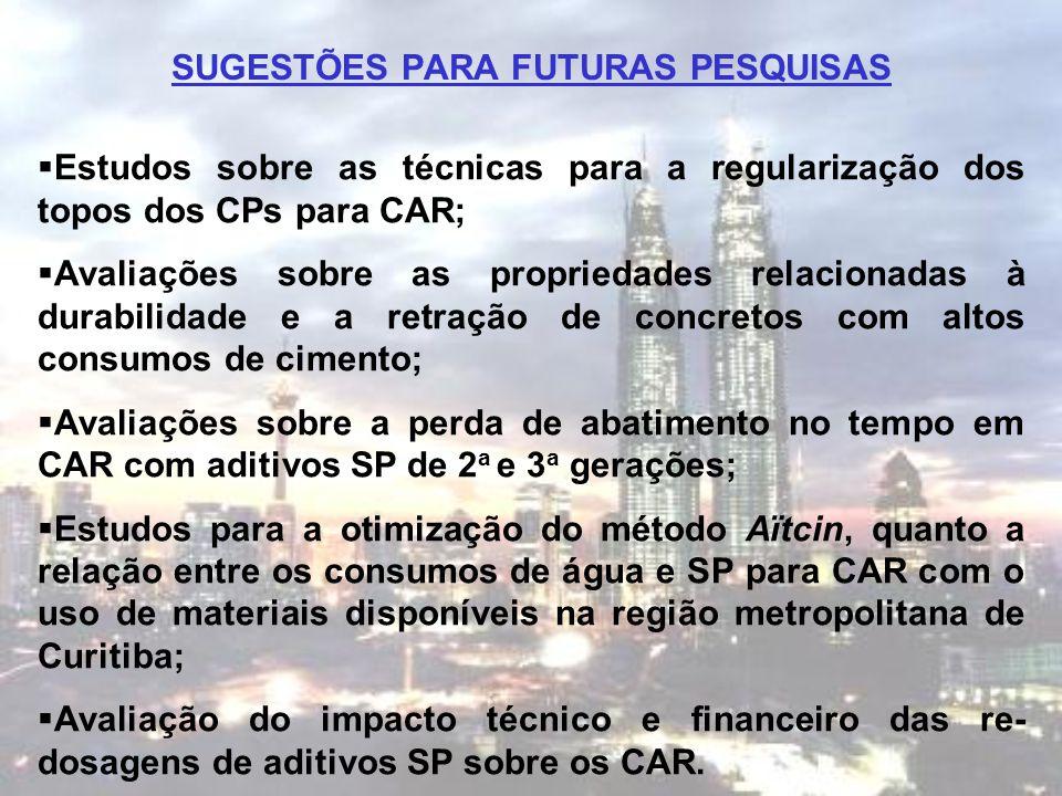 SUGESTÕES PARA FUTURAS PESQUISAS