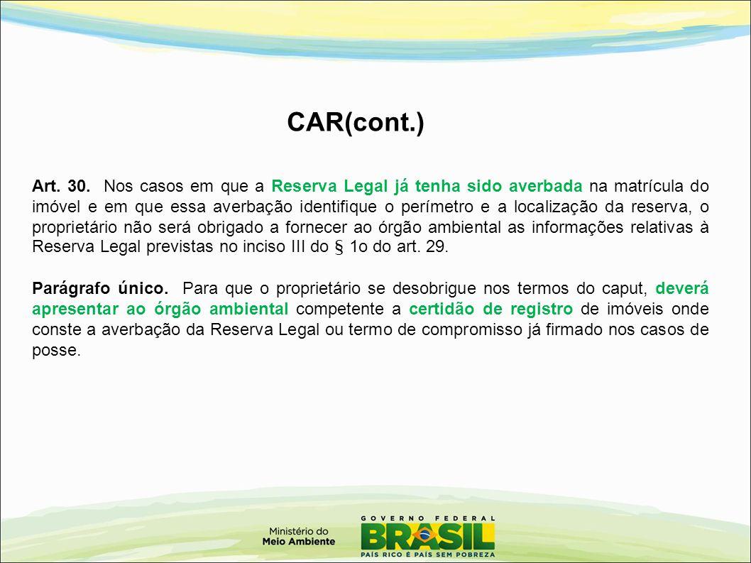 CAR(cont.)