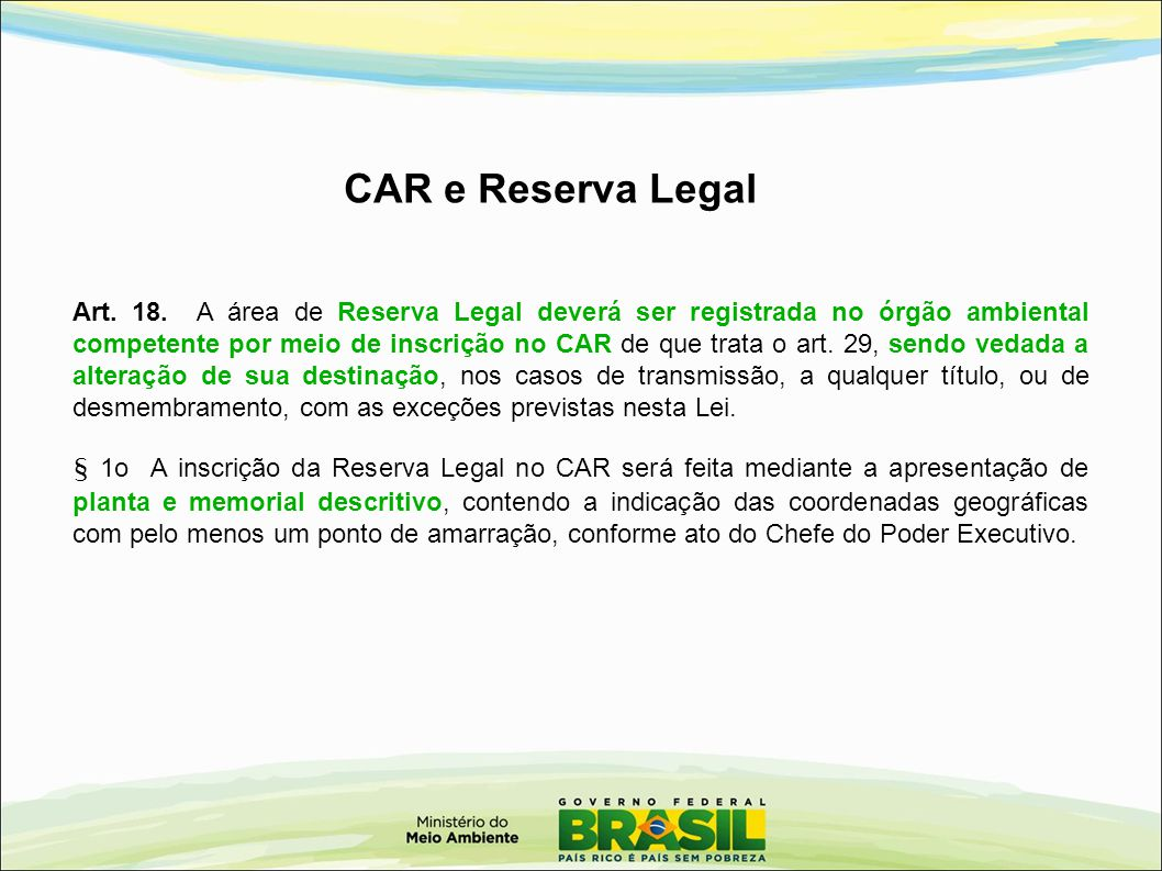 CAR e Reserva Legal