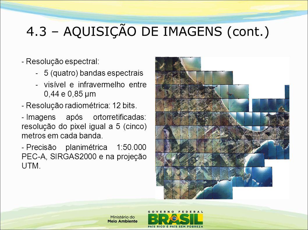 4.3 – AQUISIÇÃO DE IMAGENS (cont.)