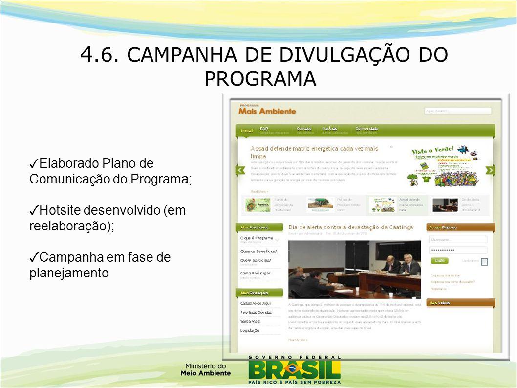 4.6. CAMPANHA DE DIVULGAÇÃO DO PROGRAMA