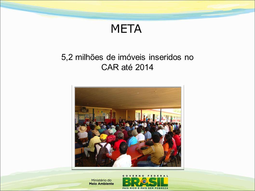 5,2 milhões de imóveis inseridos no CAR até 2014