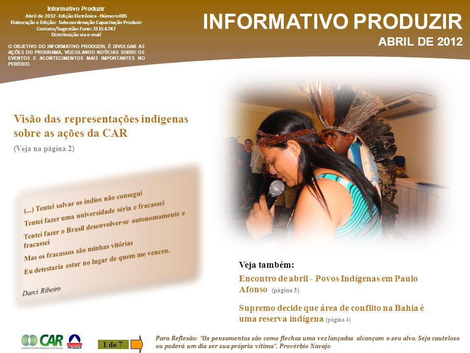 INFORMATIVO PRODUZIR ABRIL DE 2012