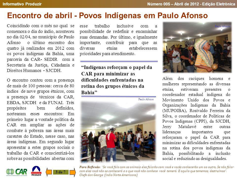 Encontro de abril - Povos Indígenas em Paulo Afonso