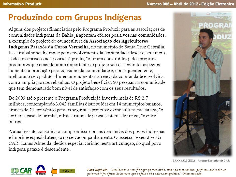 Produzindo com Grupos Indígenas