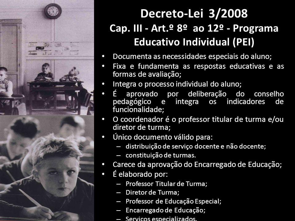 Decreto-Lei 3/2008 Cap. III - Art