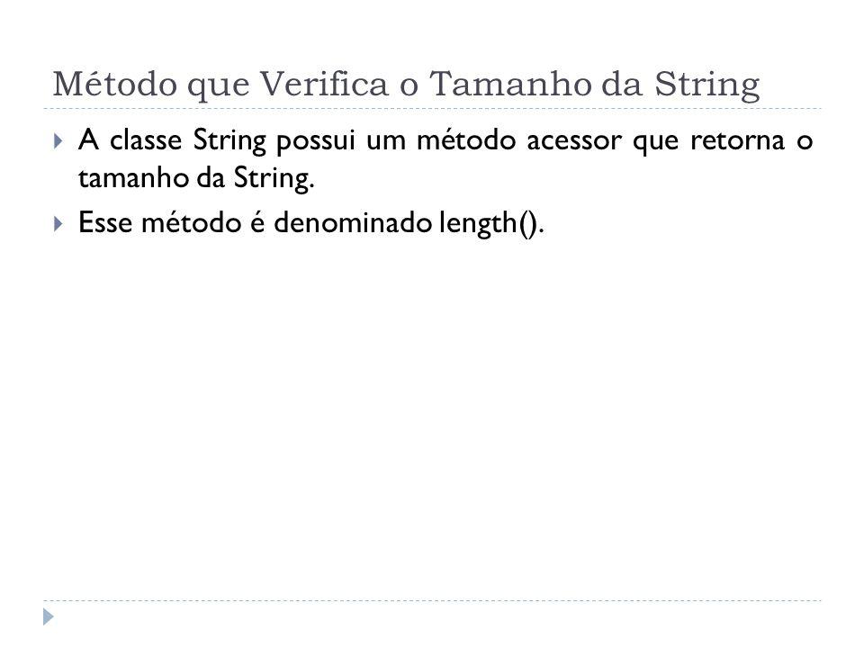 Método que Verifica o Tamanho da String