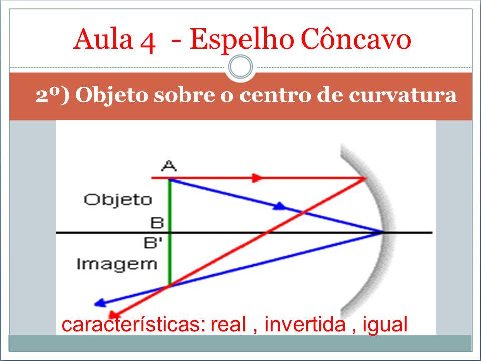 Aula 4 - Espelho Côncavo 2º) Objeto sobre o centro de curvatura