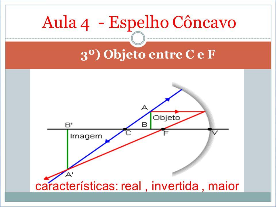 Aula 4 - Espelho Côncavo 3º) Objeto entre C e F