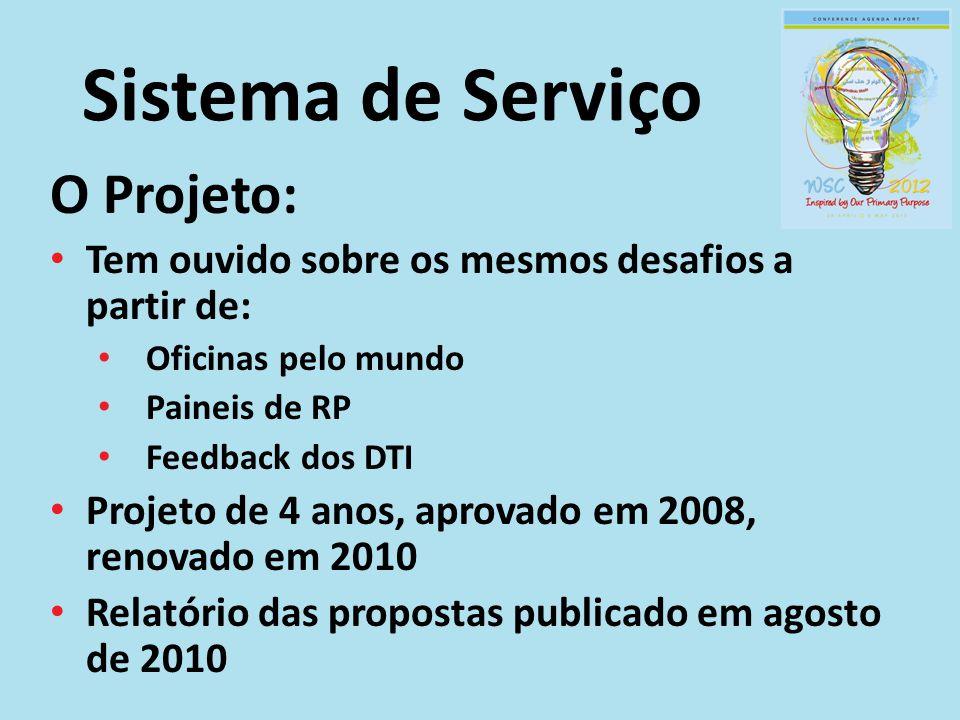Sistema de Serviço O Projeto: