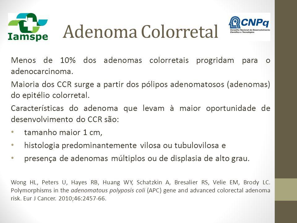 Adenoma Colorretal Menos de 10% dos adenomas colorretais progridam para o adenocarcinoma.