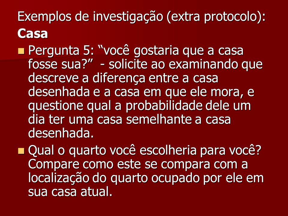 Exemplos de investigação (extra protocolo):