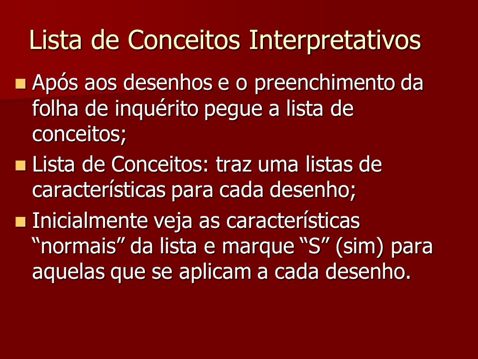 Lista de Conceitos Interpretativos