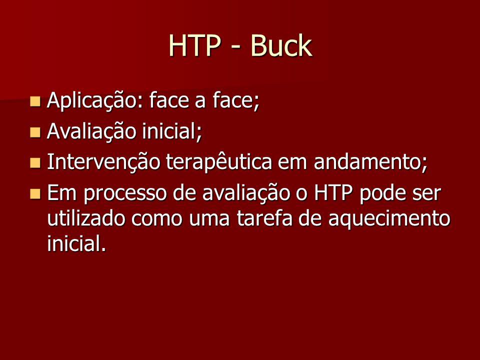 HTP - Buck Aplicação: face a face; Avaliação inicial;