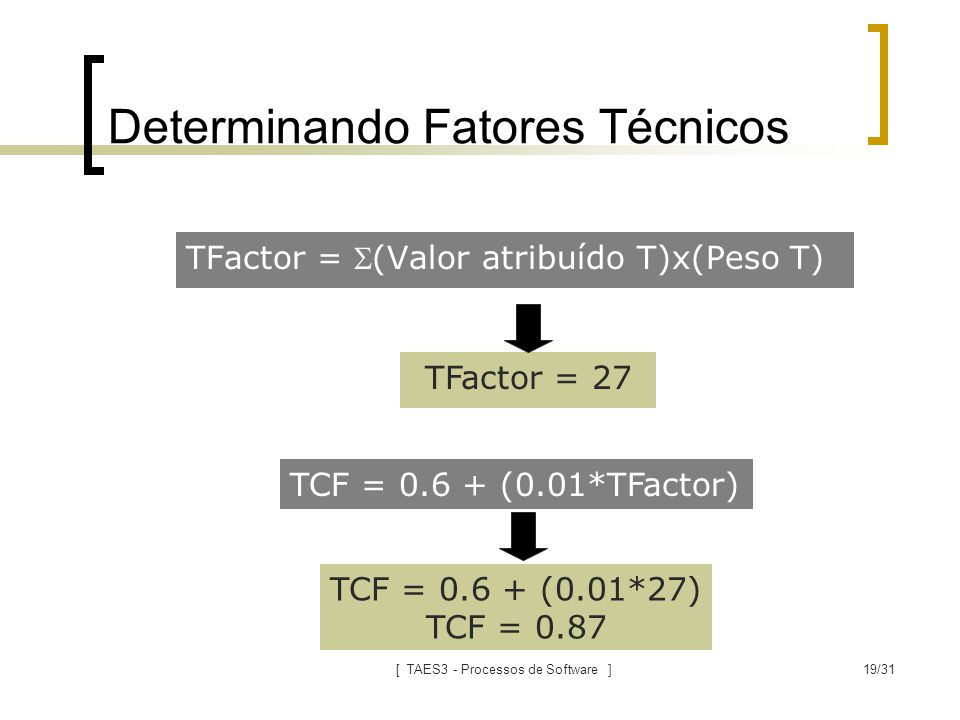 Determinando Fatores Técnicos