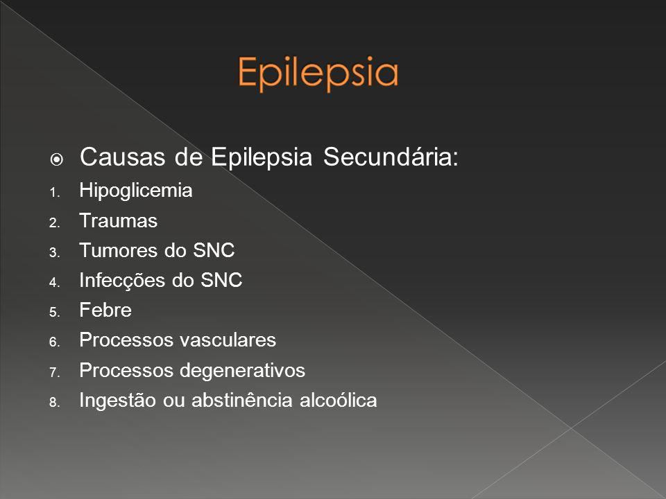 Epilepsia Causas de Epilepsia Secundária: Hipoglicemia Traumas
