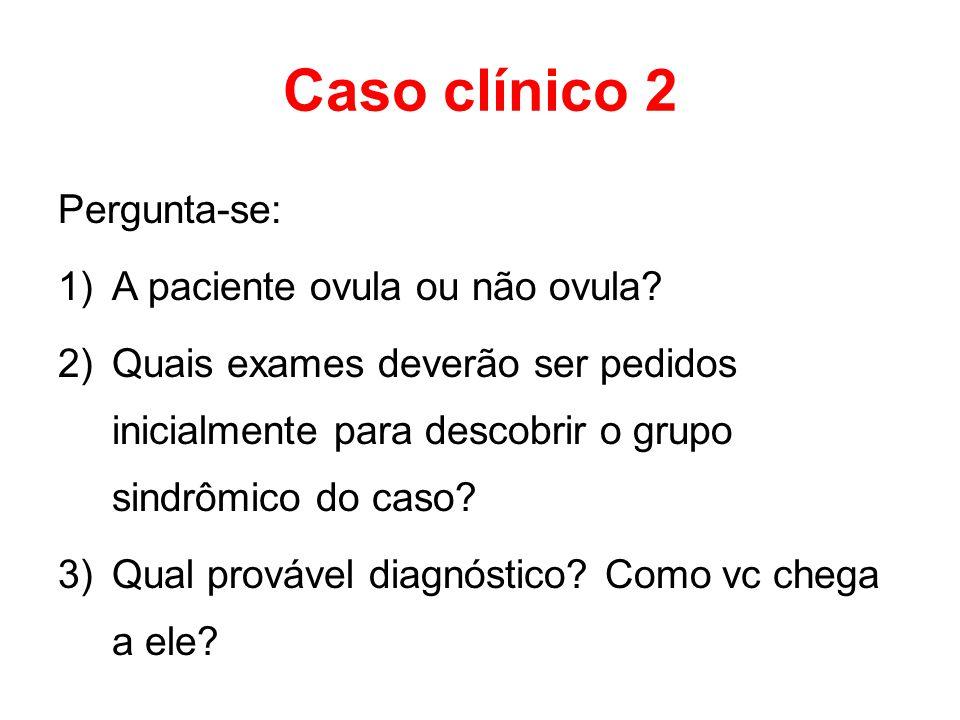 Caso clínico 2 Pergunta-se: A paciente ovula ou não ovula