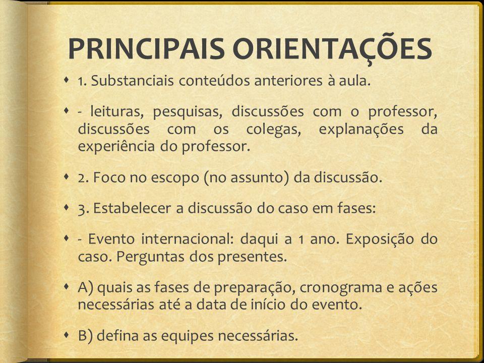 PRINCIPAIS ORIENTAÇÕES
