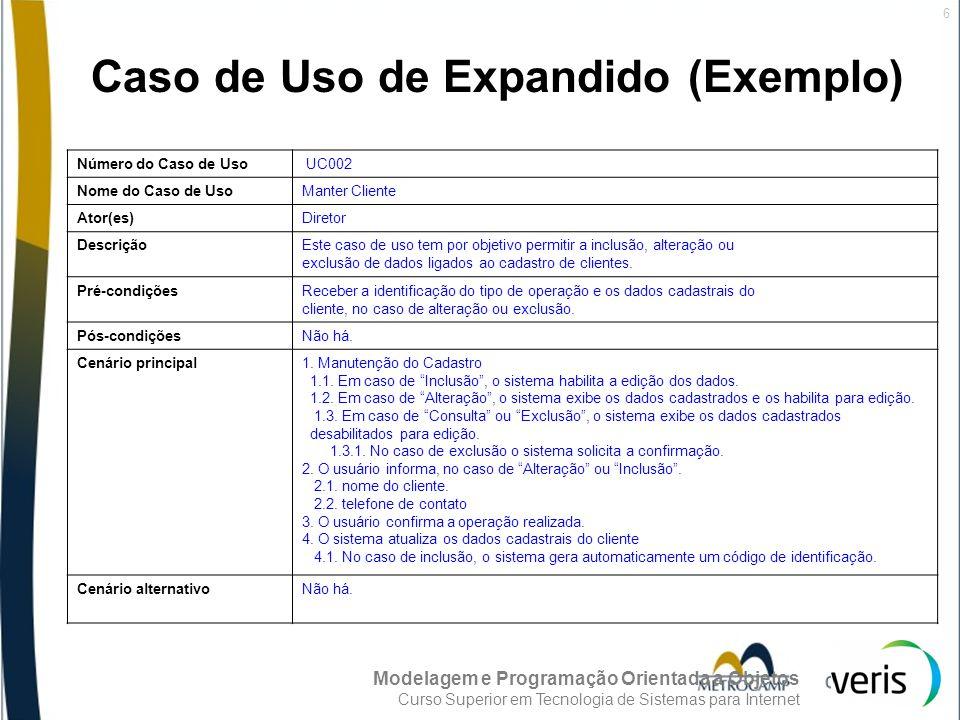 Caso de Uso de Expandido (Exemplo)