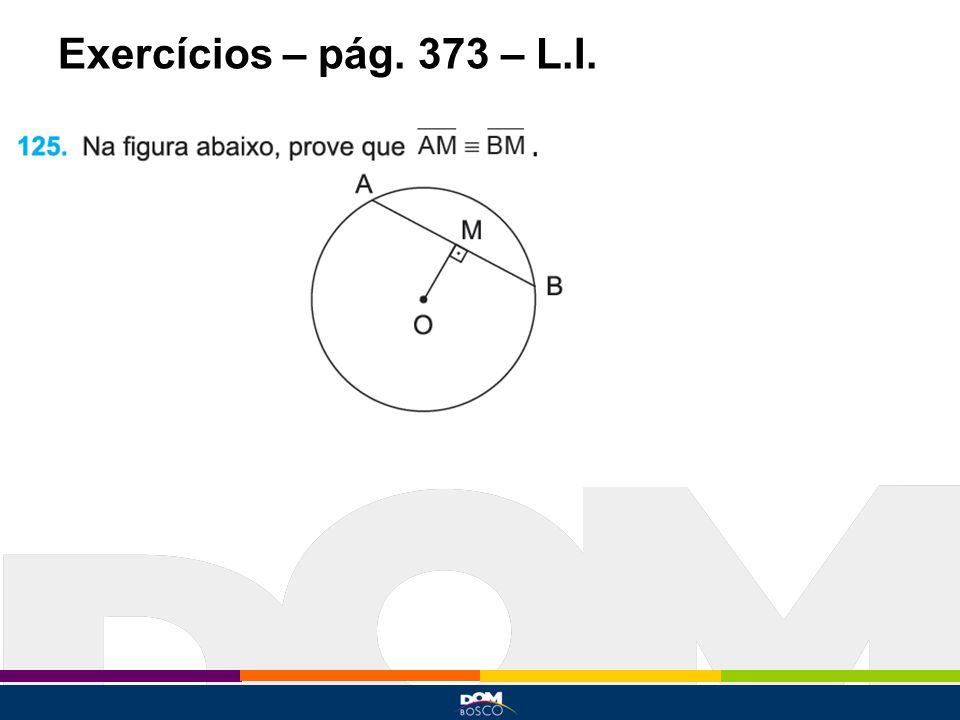 Exercícios – pág. 373 – L.I.