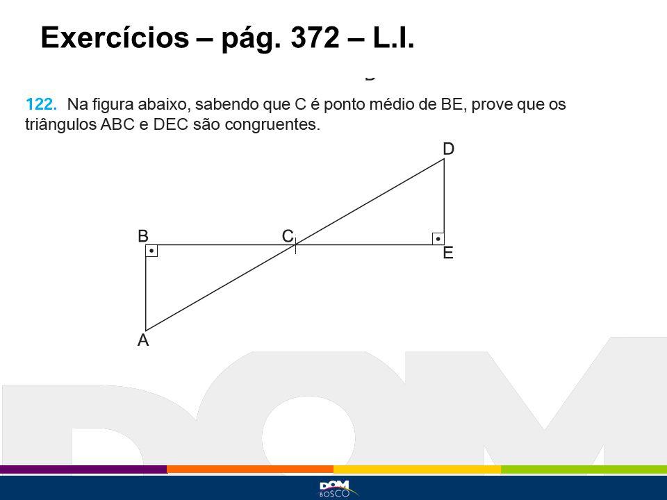 Exercícios – pág. 372 – L.I.
