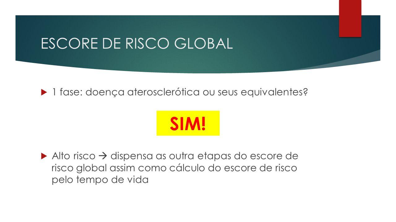 SIM! ESCORE DE RISCO GLOBAL