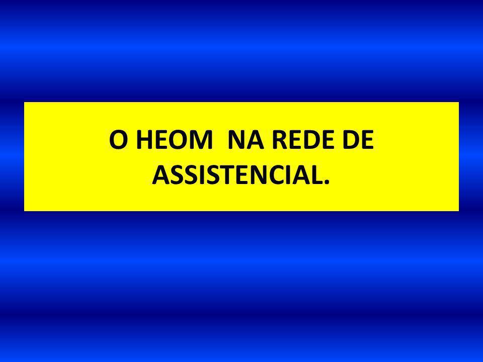 O HEOM NA REDE DE ASSISTENCIAL.