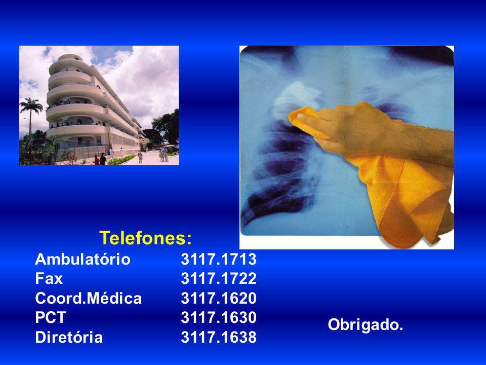 Telefones: Ambulatório 3117.1713 Fax 3117.1722 Coord.Médica 3117.1620