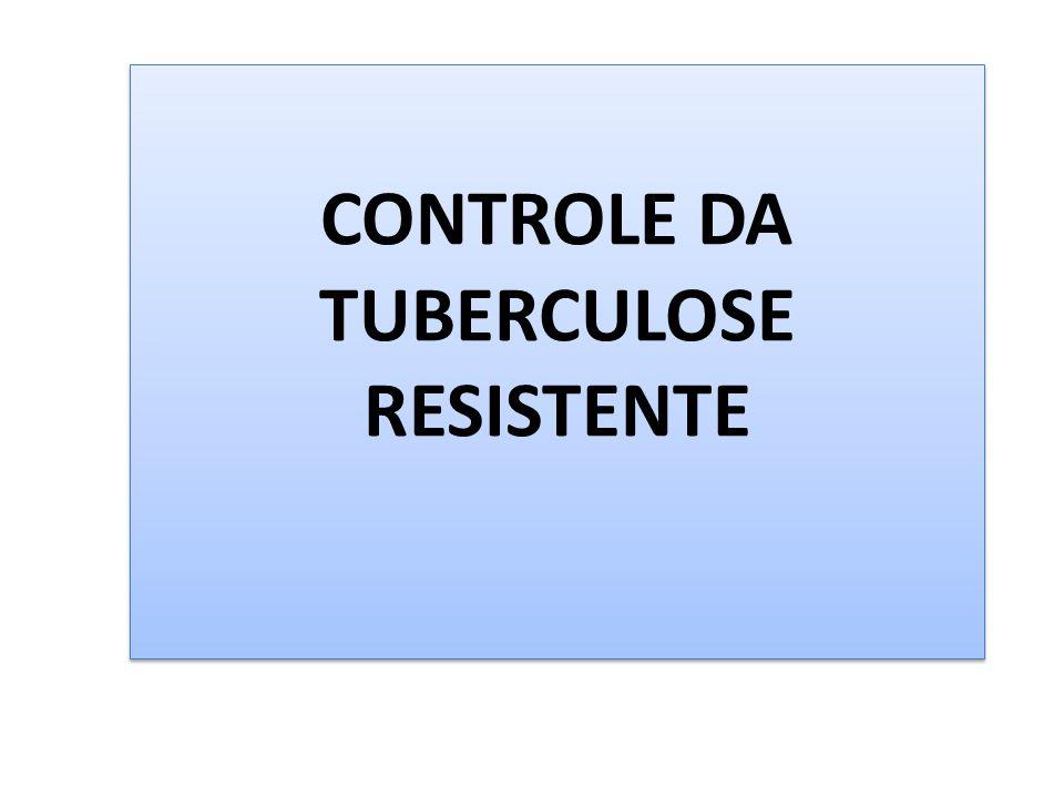 CONTROLE DA TUBERCULOSE RESISTENTE