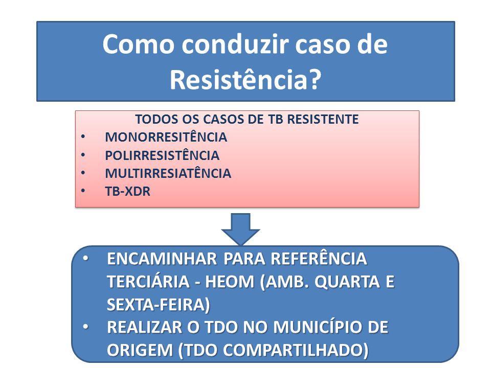 Como conduzir caso de Resistência
