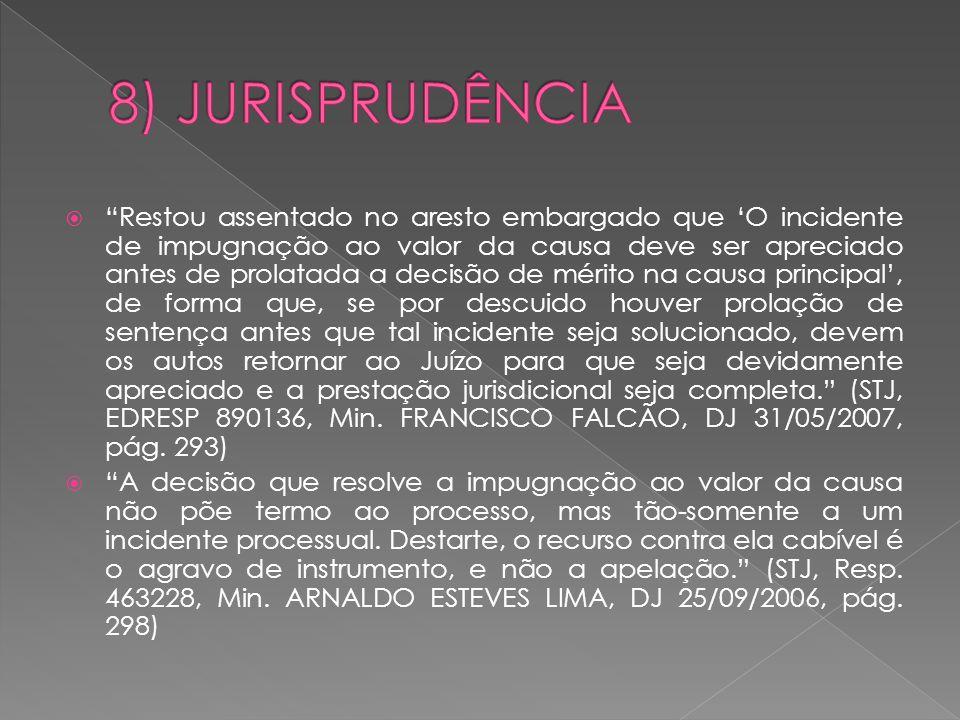 8) JURISPRUDÊNCIA