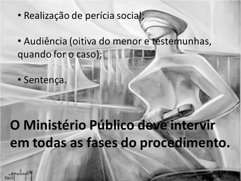 O Ministério Público deve intervir em todas as fases do procedimento.