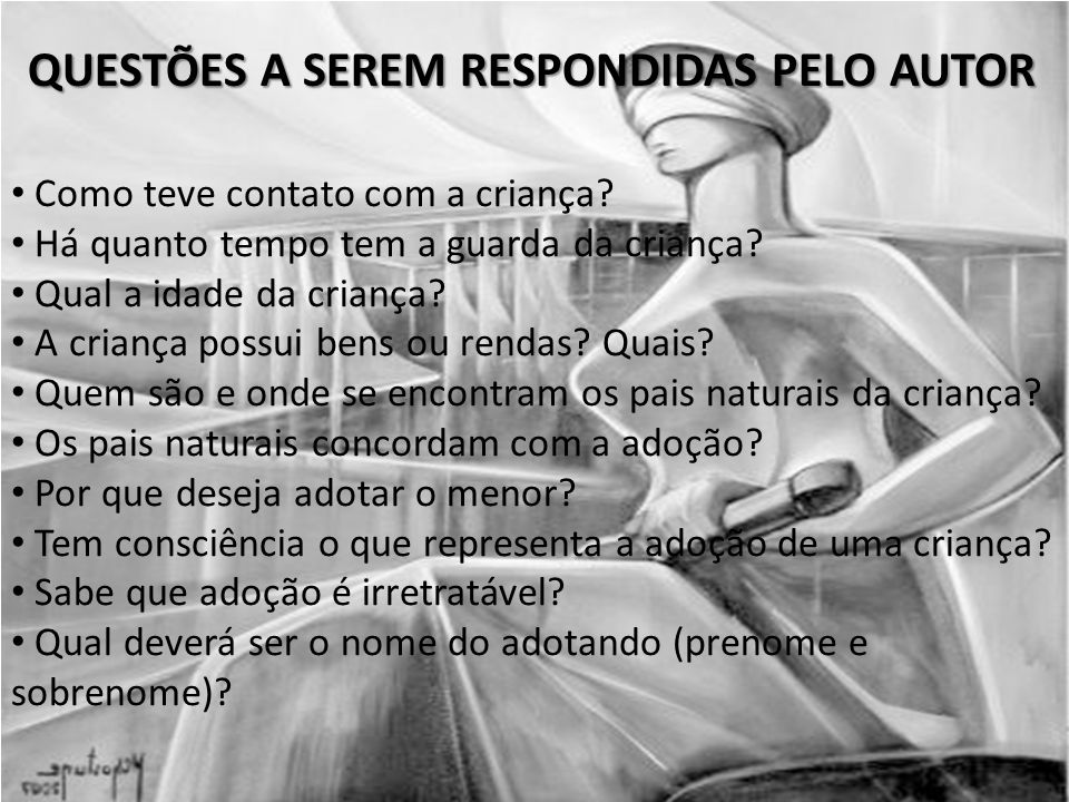 QUESTÕES A SEREM RESPONDIDAS PELO AUTOR