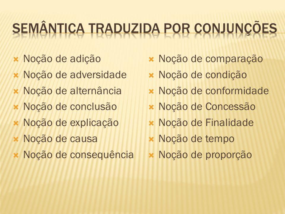 Semântica traduzida por conjunções
