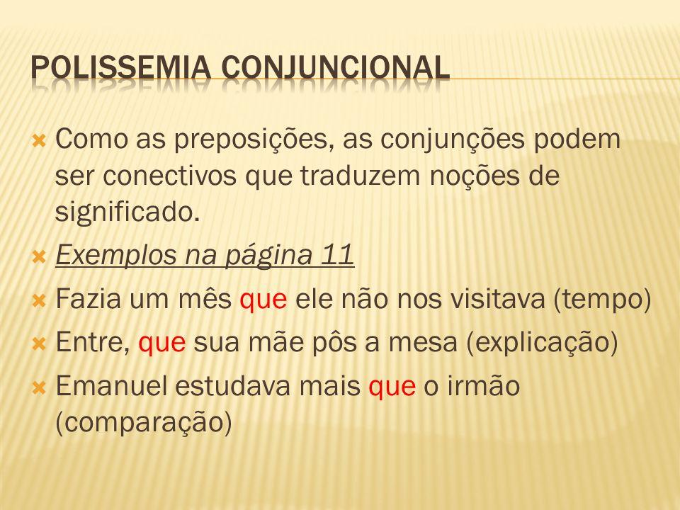 POLISSEMIA CONJUNCIONAL