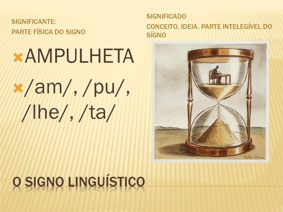AMPULHETA /am/, /pu/, /lhe/, /ta/ O SIGNO LINGUÍSTICO Significado
