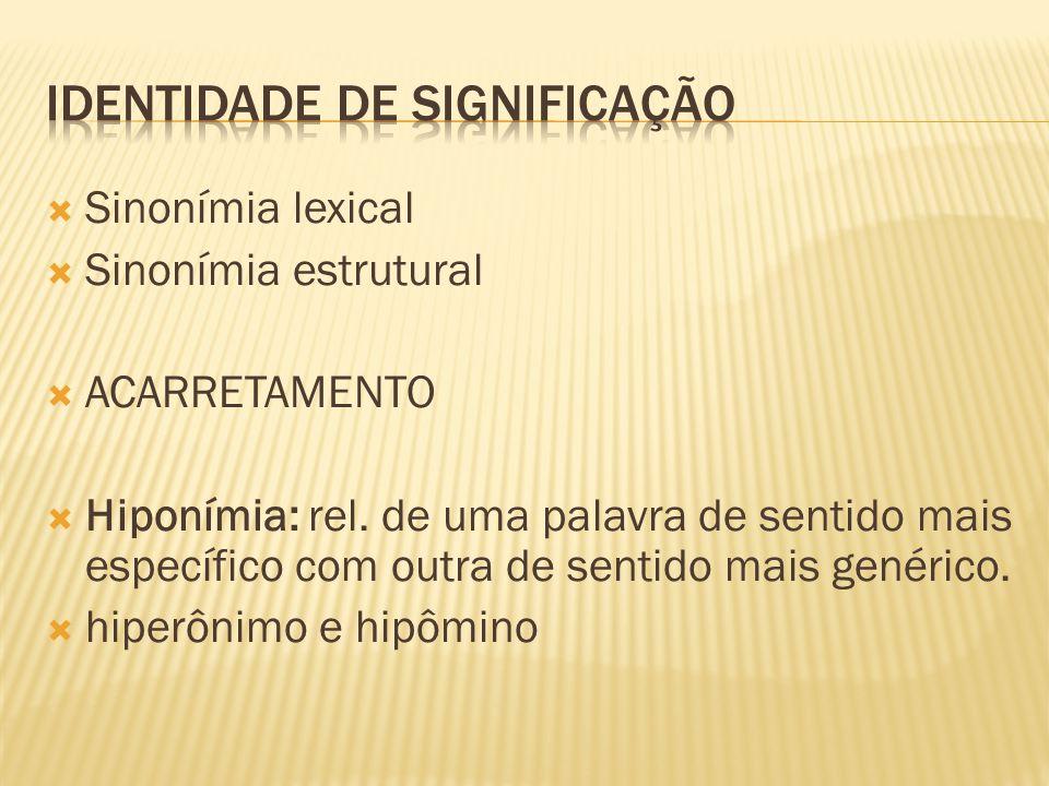 IDENTIDADE DE SIGNIFICAÇÃO