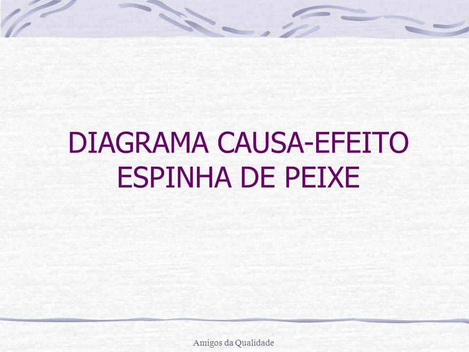 DIAGRAMA CAUSA-EFEITO ESPINHA DE PEIXE