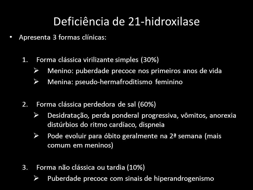 Deficiência de 21-hidroxilase