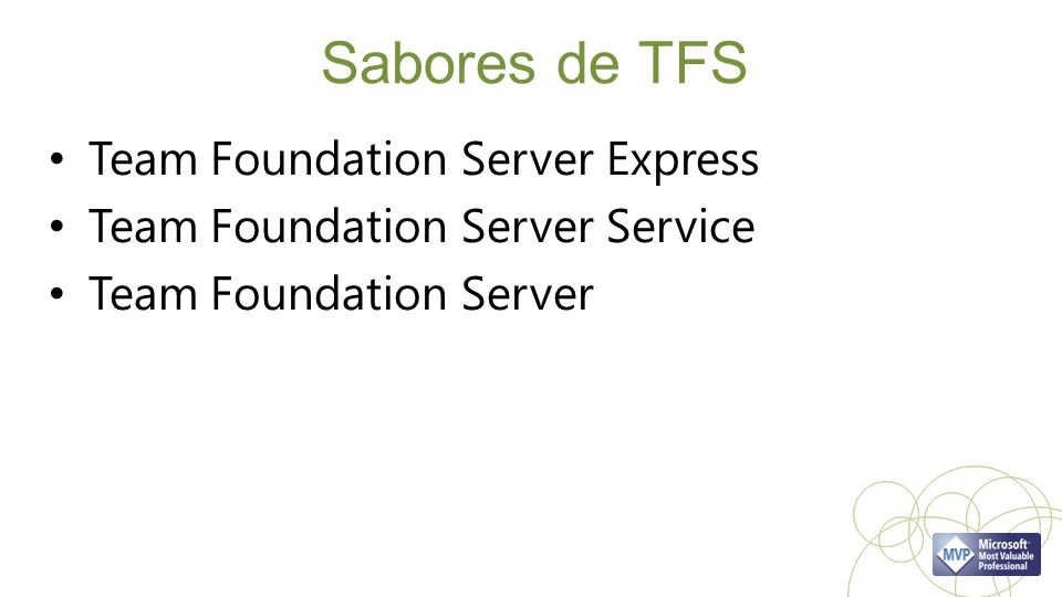 Sabores de TFS Team Foundation Server Express