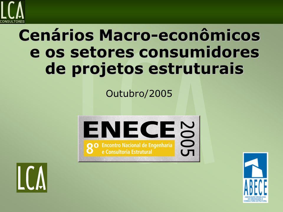 Cenários Macro-econômicos e os setores consumidores de projetos estruturais